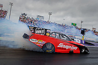 Apr 27, 2014; Baytown, TX, USA; NHRA funny car driver Cruz Pedregon during the Spring Nationals at Royal Purple Raceway. Mandatory Credit: Mark J. Rebilas-