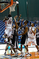 SAN ANTONIO, TX - DECEMBER 11, 2005: The Jackson State University Tigers vs. The University of Texas at San Antonio Roadrunners Men's Basketball at the UTSA Convocation Center. (Photo by Jeff Huehn)