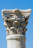 CYPRUS, near Limassol (Lemesos), Kourion: archaelogical excavation - corinthian column<br />