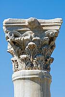 CYPRUS, near Limassol (Lemesos), Kourion: archaelogical excavation - corinthian column<br />