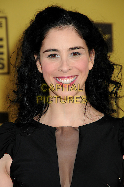 SARAH SILVERMAN .15th Annual Critics' Choice Movie Awards - Arrivals held at the Hollywood Palladium, Hollywood, California, USA, 15th January 2010..portrait headshot black smiling sheer mesh see thru through .CAP/ADM/BP.©Byron Purvis/Admedia/Capital Pictures