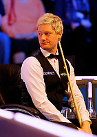 25th February 2020; Waterfront, Southport, Merseyside, England; World Snooker Championship, Coral Players Championship; Neil Robertson (AUS) looks on during his first round match against Joe Perry (ENG)