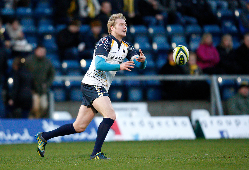 Photo: Richard Lane/Richard Lane Photography. London Wasps v Worcester Warriors. LV= Cup. 18/11/2012. Warriors' Errie Claassens.
