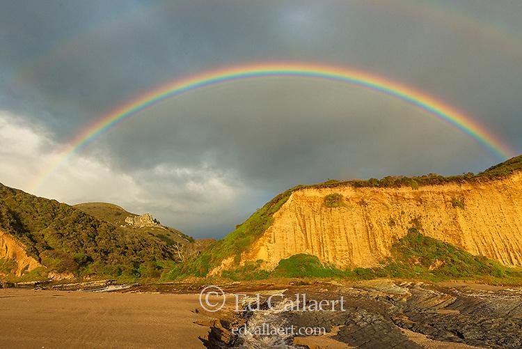 Rainbow, Sculptured Beach, Point Reyes National Seashore, Marin County, California