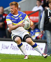 PICTURE BY ALEX WHITEHEAD/SWPIX.COM - Rugby League - Super League Play-Off - Warrington Wolves vs St Helens - The Halliwell Jones Stadium, Warrington, England - 15/09/12 - Warrington's Chris Riley in action.
