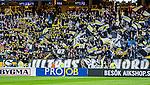 Solna 2015-04-26 Fotboll Allsvenskan AIK - &Ouml;rebro SK :  <br /> AIK:s supportrar p&aring; Norra St&aring; med flaggor och halsdukar under matchen mellan AIK och &Ouml;rebro SK <br /> (Foto: Kenta J&ouml;nsson) Nyckelord:  AIK Gnaget Friends Arena Allsvenskan &Ouml;rebro &Ouml;SK supporter fans publik supporters