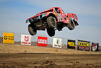 Dec. 18, 2009; Lake Elsinore, CA, USA; LOORRS unlimited light Jimmy Stephensen takes a jump during qualifying for the Lucas Oil Challenge Cup at the Lake Elsinore Motorsports Complex. Mandatory Credit: Mark J. Rebilas-US PRESSWIRE