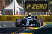 23rd March 2018, Melbourne Grand Prix Circuit, Melbourne, Australia; Melbourne Formula One Grand Prix, Friday free practice; The number 77 Mercedes AMG Petronas driven by Valtteri Bottas