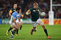 Victor Matfield of South Africa goes on the attack. Rugby World Cup Bronze Final between South Africa and Argentina on October 30, 2015 at The Stadium, Queen Elizabeth Olympic Park in London, England. Photo by: Patrick Khachfe / Onside Images