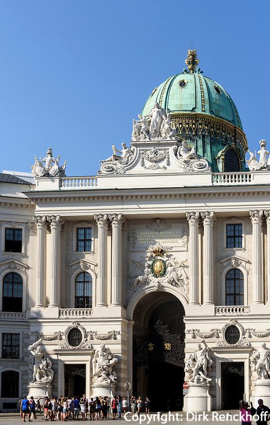 Alte Hofburg, Tor zum Michaeler Platz, Wien, Österreich, UNESCO-Weltkulturerbe