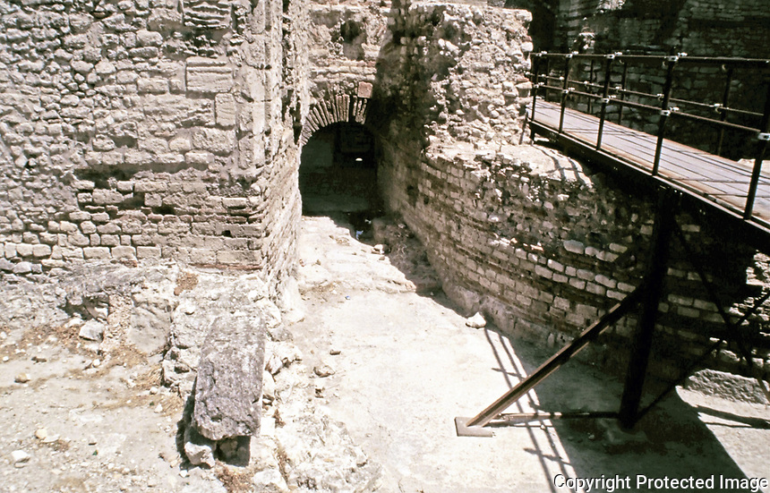 Heating vents to the Caldarium  of the Baths of Constantine, Arles France