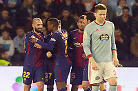 FC Barcelona's players celebrate goal during Spanish Kings Cup match. January 4,2018. (ALTERPHOTOS/Acero)