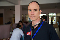 Dr Stephen Reaney, a GP from Northern Ireland, is part of the UK's Emergency Medical Team, which was deployed to Nepal after the earthquake that struck the country on 25 April. He's been helping assess and treat people with spinal injuries, in a specialist clinic just outside Kathmandu.<br /> <br /> &quot;I was deployed to Nepal on 26 April with the UK emergency trauma medical team as a primary care physician&quot;, says Stephen.<br /> <br /> &quot;When we first arrived, I was initially deployed as part of a small team up into the mountains to do some assessments in an area which previously hadn't been reached by other aid agencies.<br /> <br /> &quot;It then became apparent this spinal injuries facility here on the outskirts of Kathmandu needed a doctor with generalist skills who was willing to admit patients here to review them on the ward round and to help with the other three doctors to manage the patients. So I came here.<br /> <br /> &quot;As you can see the ward is pretty full. They have 29 more patients than usual. We&rsquo;ve just had another 2 patients admitted from the teaching hospital with severe spinal injuries.<br /> <br /> &quot;So that's what I've been doing over the last 10 days.<br /> <br /> &quot;All patients I've been dealing with are earthquake victims. There are another 38 patients here who were here before the earthquake.<br /> <br /> &quot;Most of the injuries that I have been seeing are upper lumber spinal injuries and crush injuries with a variable degree of spinal cord injury - so unfortunately some patients are totally paralysed.<br /> <br /> &quot;I was deployed in a similar team in the Philippines in 2013, after Typhoon Haiyan. My role in the Philippines was to do general health and demographic assessments, and I've been doing the same here in Nepal.<br /> <br /> &quot;Patience is needed for the first couple of days with all the chaos of a disaster like this, and it's taken a little bit of time to find out from people on the ground where our skills are needed. It's been good though. I've learned a lot and hopefully I have been able to help the medical staff here with the very high workload that
