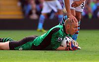 Saturday 15 September 2012<br /> Pictured: Aston Villa goalkeeper Brad Guzan.<br /> Re: Barclay's Premier League, Aston Villa v Swansea City FC at Villa Park, West Midlands, UK.