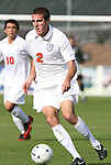 15 November 2009: Virginia's Jordan Evans. The University of Virginia Cavaliers defeated the North Carolina State University Wolfpack at WakeMed Stadium in Cary, North Carolina in the Atlantic Coast Conference Men's Soccer Tournament Championship game.