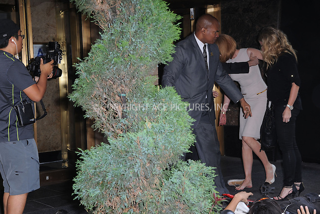 WWW.ACEPIXS.COM<br /> September 12, 2013 New York City<br /> <br /> Actress Nicole Kidman has accident with paparazzi while arriving to her hotel on September 12, 2013 in New York City.<br /> <br /> By Line: Kristin Callahan/ACE Pictures<br /> <br /> ACE Pictures, Inc.<br /> tel: 646 769 0430<br /> Email: info@acepixs.com<br /> www.acepixs.com<br /> Copyright:<br /> Kristin Callahan/ACE Pictures