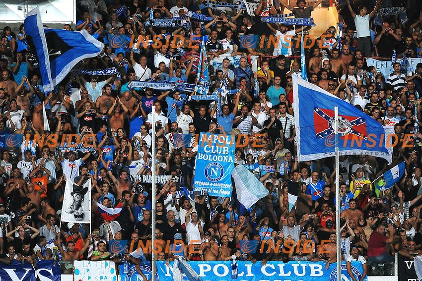 """Festeggiamenti tifosi del Napoli.Cesena 10/9/2011 Stadio """"Dino Manuzzi"""".Football Calcio 2011/2012 Serie A.Cesena Vs Napoli.Foto Insidefoto Andrea Staccioli"""