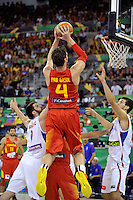 Spain's  GASOL, Pau during 2014 FIBA Basketball World Cup Group Phase-Group A, match Serbia vs Spain. Palacio  Deportes of Granada. September 4,2014. (ALTERPHOTOS/Raul Perez)