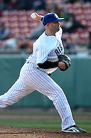Buffalo Bisons pitcher Tayor Tankersley #57 delivers a pitch during a game against the Syracuse Chiefs at Dunn Tire Park on April 7, 2011 in Buffalo, New York.  Syracuse defeated Buffalo 8-5.  Photo By Mike Janes/Four Seam Images