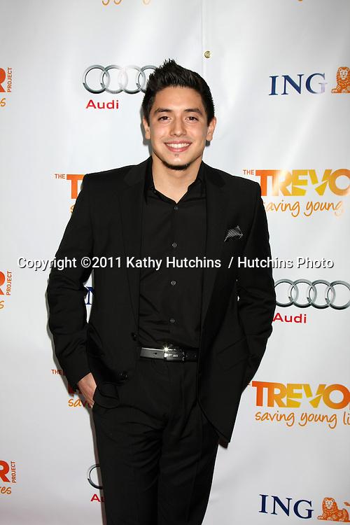 "LOS ANGELES - DEC 4:  Stefano Langone arrives at ""The Trevor Project's 2011 Trevor Live!"" at Hollywood Palladium on December 4, 2011 in Los Angeles, CA"