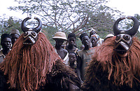 Bobo mask dancing to a funeral