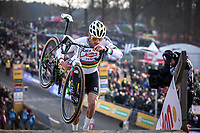 eventual winner Mathieu Van der Poel (NED/Alpecin Fenix) <br /> <br /> Men Elite Race<br /> UCI Cyclocross Worldcup – Hoogerheide (Netherlands)<br /> <br /> ©kramon