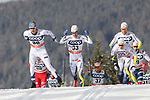 Cross Country Ski World Cup 2018 FIS in Dobbiaco, Toblach, on December 17, 2017; Men 15 km Pursuit Classic; Marcus Hellner