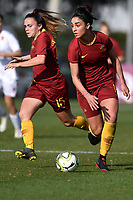 Annamaria Serutirni and Vanessa Bernauer of AS Roma in action during the Women Italy cup round of 8 second leg match between AS Roma and Roma Calcio Femminile at stadio delle tre fontane, Roma, February 20, 2019 <br /> Foto Andrea Staccioli / Insidefoto