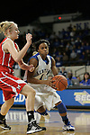 UK guard A'dia Mathies drives to the net against Miami (OH) Tuesday night at Memorial Coliseum. Photo by Scott Hannigan | Staff.