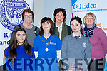 Emer Beasley St Brigids School Killarney and Erin Dee IS Killorglin who competed in the regional finals of the Soroptimists National Competiton in the INEC on Saturday front row l-r: Emer Beasley St Brigids School Killarney, Eimer Moynihan Kerry President and Erin Dee IS Killorglin. Back row: Bernadette Noonan, Marian Kennedya nd Renee Paschier Adjudicators