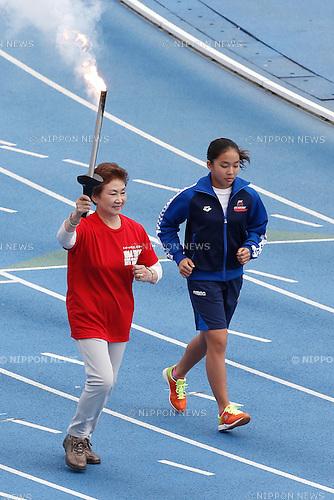 Kiyoko Ono, OCTOBER 11, 2014 : Memorial event of 1964 Tokyo Olympic and Paralympic 50 years memorial week is held at Komazawa athletics stadium, Tokyo, Japan. (Photo by AFLO SPORT) [1180]
