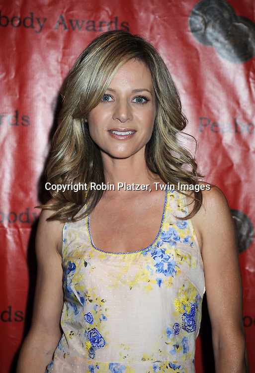 "Jessalyn Gilsig of ""Glee""  posing for photographers at 69th Annual Peabody Awards on May 17, 2010 at The Waldorf Astoria Hotel in New York City."