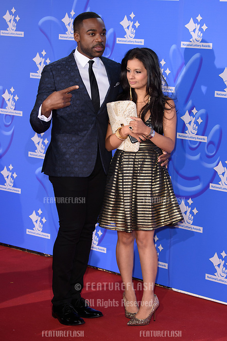 LONDON, UK. September 21, 2018: Ore Oduba &amp; Sonali Shah at the National Lottery Awards 2018 at the BBC Television Centre, London.<br /> Picture: Steve Vas/Featureflash