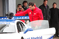 Real Madrid Player Arbeloa and recives new Audi during the presentation of Real Madrid's new cars made by Audi at the Jarama racetrack on November 8, 2012 in Madrid, Spain.(ALTERPHOTOS/Harry S. Stamper) .<br />