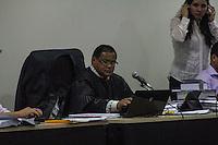 SAO LUIZ,MA, 03.02.2014 - JULGAMENTO CASO DÉCIO SÁ - SÃO LUIS - MA -  Juiz que preside o caso Dr. Osmar Gomes durante o primeiro dia de julgamento do caso Décio Sá, jornalista que foi assassinado  no dia 23 de abril 2012, em um bar na Avenida Litorânea em São Luis, foram ouvidas as testemunhas de defesa, muitas delas não quizeram depor napresença dos acusados por medo de algum tipo de represália. Julgamento realizado no Forum Desembargador Sarney no bairro Calhau na cidade de Sao Luis do Maranhao. (Foto: Jardiel Carvalho/Brazil Photo Press).