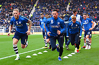 Preston North End's Alan Browne and Preston North End's Tom Clarke warm up with their team-mates<br /> <br /> Photographer Richard Martin-Roberts/CameraSport<br /> <br /> The EFL Sky Bet Championship - Preston North End v Blackburn Rovers - Saturday 24th November 2018 - Deepdale Stadium - Preston<br /> <br /> World Copyright © 2018 CameraSport. All rights reserved. 43 Linden Ave. Countesthorpe. Leicester. England. LE8 5PG - Tel: +44 (0) 116 277 4147 - admin@camerasport.com - www.camerasport.com