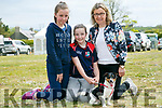 At the Kingdom County Fair in Ballybeggan on Sunday were  Paula McNamara, Mary McNamara and Abbey McNamara with Charlie the Dog