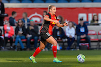 Bridgeview, IL, USA - Saturday, April 23, 2016: Western New York Flash forward Adriana Leon (19) during a regular season National Women's Soccer League match between the Chicago Red Stars and the Western New York Flash at Toyota Park. Chicago won 1-0.