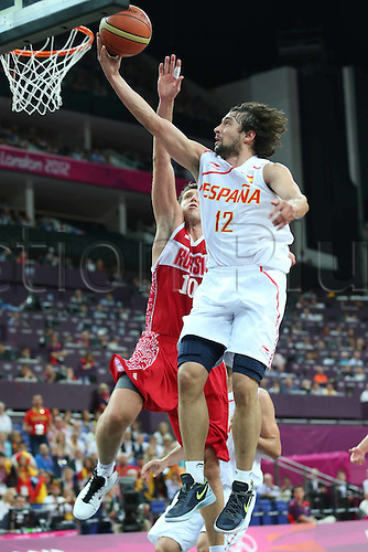 10.08.2012. London, England. Sergio Llull of Spain competes  during the mens Basketball Semi-finals Match between Spain and Russia AT London 2012 Olympic Games Spain Won 67 59