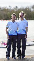 Caversham. Berkshire. UK<br /> GBR LW2X, left Charlotte TAYLOR and Kat COPELAND.<br /> 2016 GBRowing European Team Announcement,  <br /> <br /> Wednesday  06/04/2016 <br /> <br /> [Mandatory Credit; Peter SPURRIER/Intersport-images]