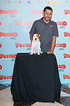 """Spanish director Tom Fernandez and Cook the dog attends thethe photocall of the presentation of the movie """"Pancho El Perro Millonario"""" at the NH Palacio de Tepa Hotel in Madrid, Spain. June 3, 2014. (ALTERPHOTOS/Carlos Dafonte)"""