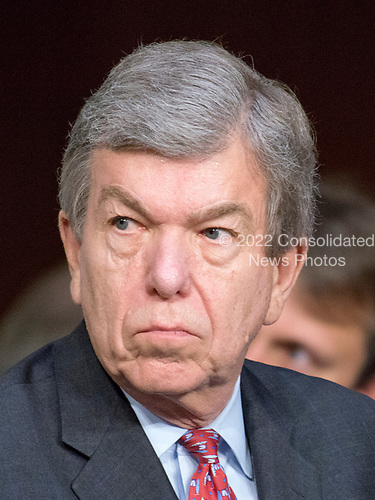 United States Senator Roy Blunt (Republican of Missouri) listens to testimony before the US Senate Select Committee on Intelligence on the Russian intervention in the 2016 Presidential election on Capitol Hill in Washington, DC on Wednesday, June 28, 2017.<br /> Credit: Ron Sachs / CNP