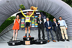 Race leader Thomas De Gendt (BEL) Lotto-Soudal retains the yellow jersey at the end of Stage 3 of the Criterium du Dauphine 2017, running 184km from Chambon-sur-Lignon to Tullins, France. 6th June 2017. <br /> Picture: ASO/A.Broadway | Cyclefile<br /> <br /> <br /> All photos usage must carry mandatory copyright credit (&copy; Cyclefile | ASO/A.Broadway)