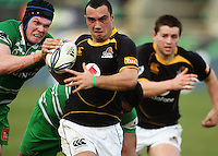 Manawatu lock James Good tries to tackle Charlie Ngatai during the Air NZ Cup preseason match between Manawatu Turbos and Wellington Lions at FMG Stadium, Palmerston North, New Zealand on Friday, 17 July 2009. Photo: Dave Lintott / lintottphoto.co.nz