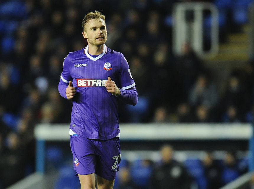 Bolton Wanderers' Jan Kirchhoff<br /> <br /> Photographer Kevin Barnes/CameraSport<br /> <br /> The EFL Sky Bet Championship - Reading v Bolton Wanderers - Tuesday 6th March 2018 - Madejski Stadium - Reading<br /> <br /> World Copyright &copy; 2018 CameraSport. All rights reserved. 43 Linden Ave. Countesthorpe. Leicester. England. LE8 5PG - Tel: +44 (0) 116 277 4147 - admin@camerasport.com - www.camerasport.com
