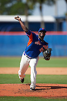 GCL Mets pitcher Anthony Chavez (93) delivers a pitch during the first game of a doubleheader against the GCL Marlins on July 24, 2015 at the St. Lucie Sports Complex in St. Lucie, Florida.  GCL Marlins defeated the GCL Mets 5-4.  (Mike Janes/Four Seam Images)