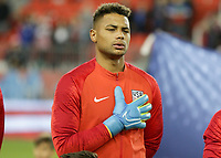 TORONTO, ON - OCTOBER 15: Zack Steffen #1 of the United States during a game between Canada and USMNT at BMO Field on October 15, 2019 in Toronto, Canada.
