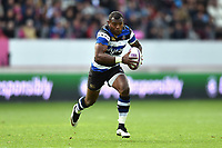 Semesa Rokoduguni of Bath Rugby in possession. European Rugby Challenge Cup Semi Final, between Stade Francais and Bath Rugby on April 23, 2017 at the Stade Jean-Bouin in Paris, France. Photo by: Patrick Khachfe / Onside Images