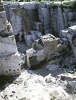 GRANITE QUARRY<br /> Granite is extracted from an open-pit mine. Granite is primarily used as a building material due to its widespread occurrence and massive structure.