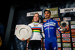 Julian Alaphilippe (FRA) Deceuninck-Quick Step wins the 83rd edition of La Fl&egrave;che Wallonne 2019, while World Champion Anna van der Breggen (NED) Boels-Dolmans conquered the Fl&egrave;che Wallonne Femmes for a fifth time, running 195km from Ans to Huy, Belgium. 24th April 2019.<br /> Photo by Thomas van Bracht / PelotonPhotos.com / Cyclefile